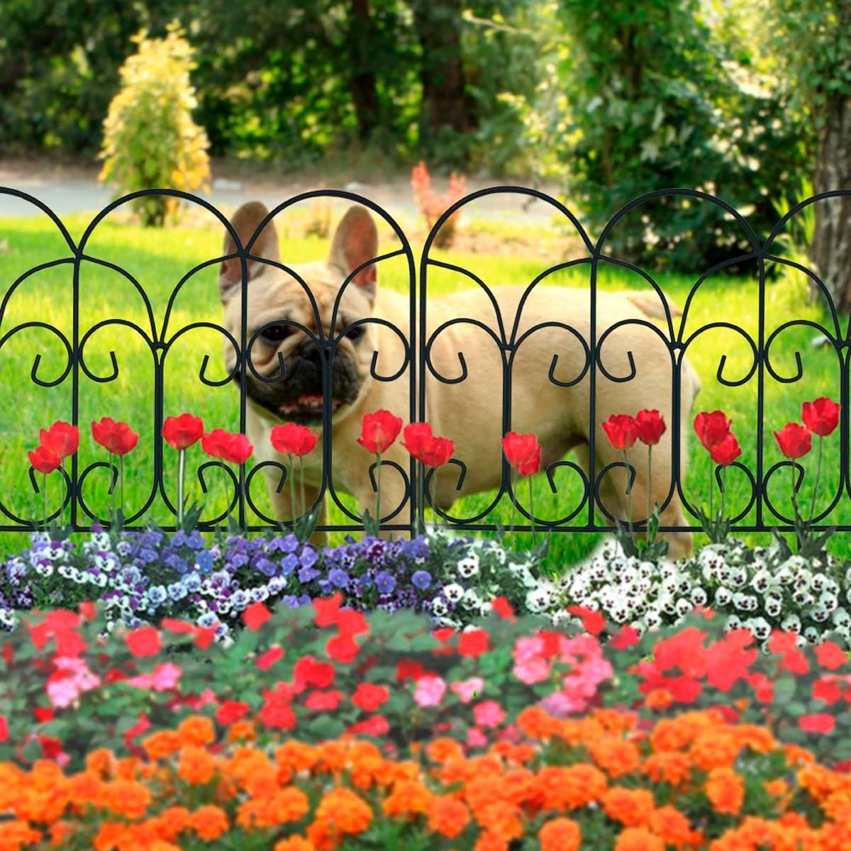 how to keep a dog from digging in flower beds